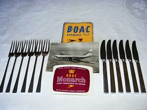 BOAC-Silver-Plate-Cutlery-from-the-Golden-Age-of-Flight-1950-039-s-6-Pairs