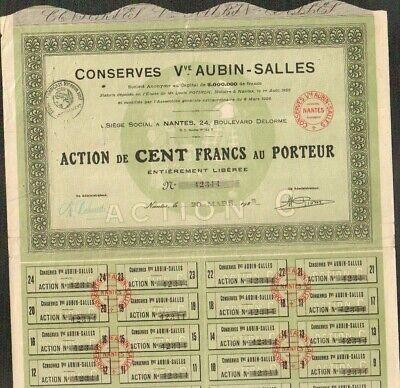 NANTES 44 R DECO =/> CONSERVES Veuve AUBIN-SALLES