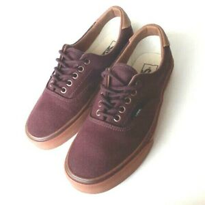 Vans-Off-The-Wall-Men-s-Size-7-5-Burgundy-Canvas-Skateboard-Shoes-Slightly-Used