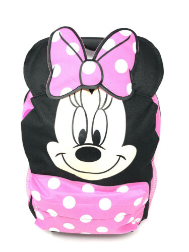 """Disney Minnie Mouse 12/"""" Toddler Roller Backpack Trolley Authentic Brand New."""