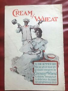 Black Americana 1914 Cream of Wheat NEW Metal Sign Proof is in the Eating!