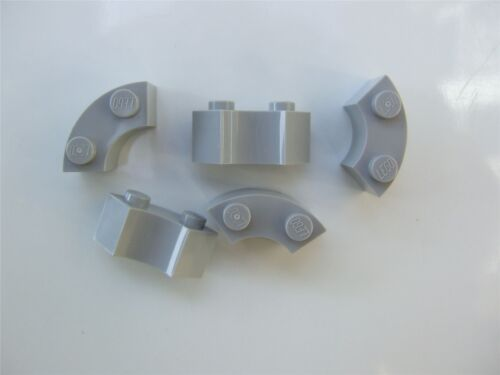 Parts /& Pieces 5 x Lego Grey Brick 2x2 with inside and outs bow 4567448