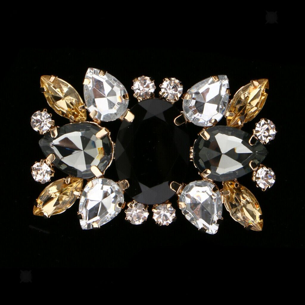 Crystal Shoe Clips Patch Womens Decorative Shoes Square Buckle Clip Shoe Charms