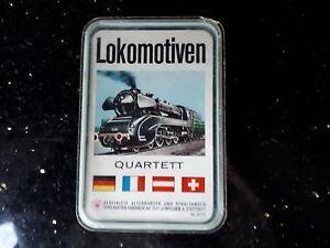 """!!! Ancienne Quatuor Jeu De Cartes """"locomotives"""", Aas 675, Entièrement!!!-afficher Le Titre D'origine 50% De RéDuction"""