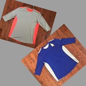 84048693 NWT$35 MEN'S UNDER ARMOUR VENTED 3/4 SLEEVE RUNNING SHIRT 1320548 SIZE XL
