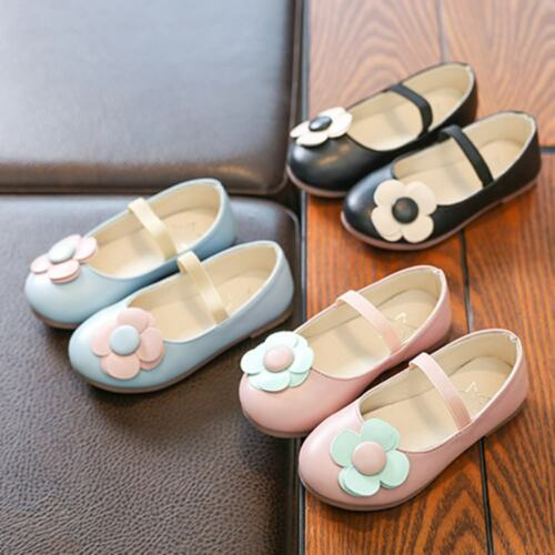 Toddler Children Infant Kids Girl Flower Leather Princess Single Casual Shoes US