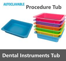 Dental Procedure Tub Portable Drawer For Organization Storage Used Instrument