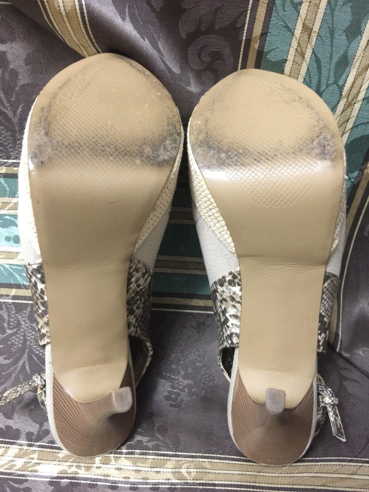 SE Sam Edelman Boutique Boutique Boutique damen  Nansi  peep toe slingback platform heels sz 9 M c967bf