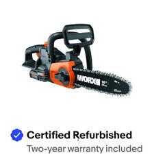 "WORX WG322 20V PowerShare 10"" Cordless Chainsaw w Auto-Tension Certified Refurb"