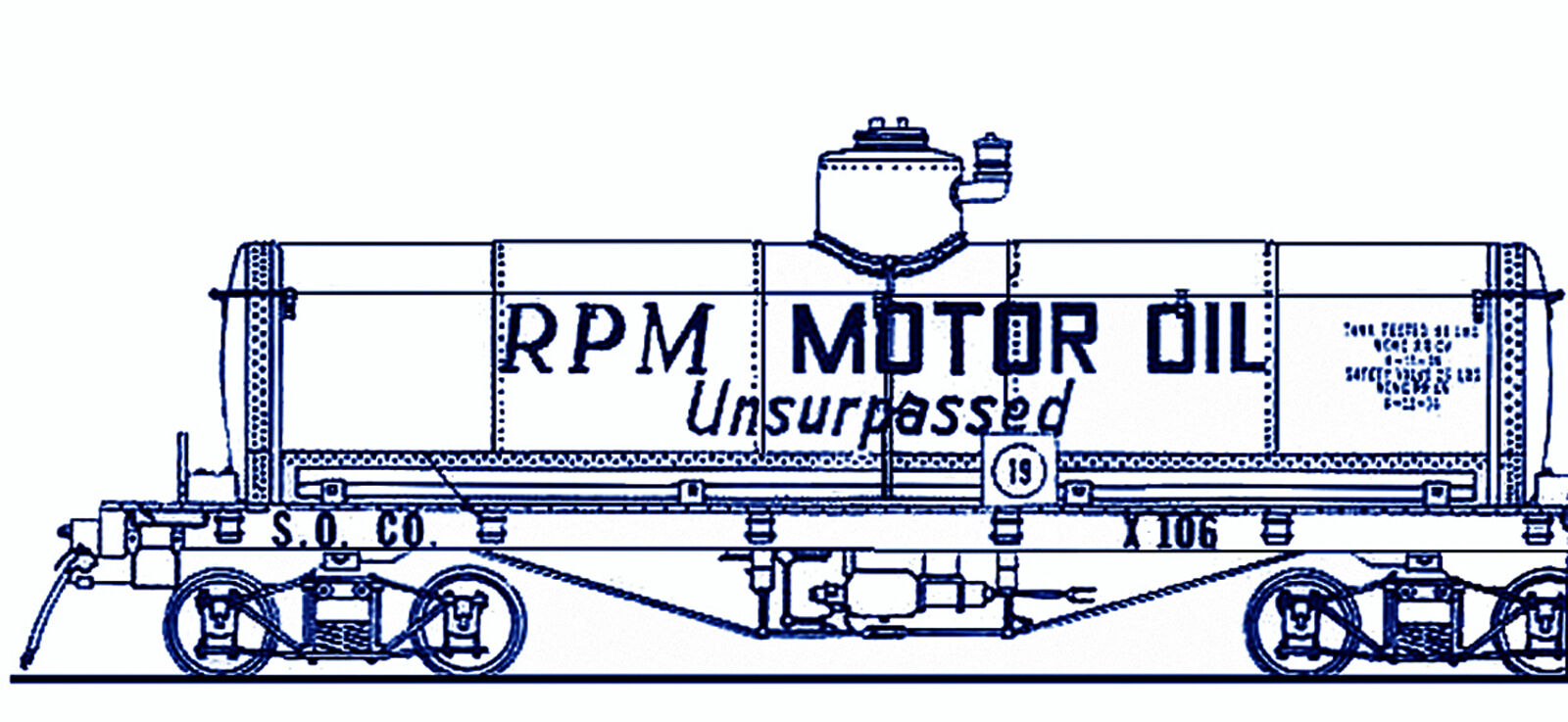 RPM, ZEROLENE or STANDARD OIL TANK CAR On3 On30 Model Railroad Kit TC7883