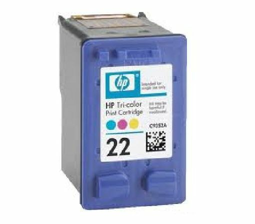 HP 22 Colour Refilled Inkjet Cartridge C9352AE C9352A 3 x More Ink F380 HP22