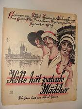 1926 German sheet music Kolle hat patente Madcher waltz Alfred Heinen