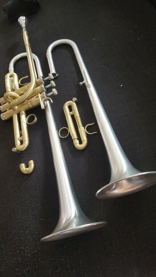 Berkeley Raw Brass STD Eb Trompete W Extra Silber D Bell