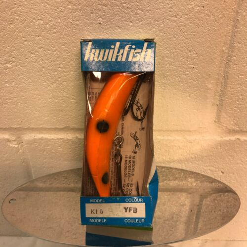 Pre Luhr-Jensen Kwikfish  K16  Color YFB  New in Box Old Stock