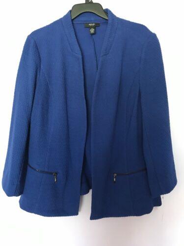 bleu Veste tricot femmes Alfani garniture culture de coton taille 2x en q6TwI6xZ