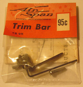 Air-Span-Trim-Bar-Control-Arm-F-amp-N-Products-for-Gas-Planes-1950s-039-60s-MOC