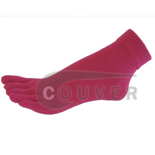 Femmes Coton Yoga Gym Orteils Colorés Cheville Haute Toe Socks