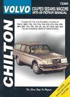 Volvo Saloons, Estates and Coupes (1970-89) by Chilton Automotive Books, The Nichols/Chilton, Chilton (Paperback, 1996)