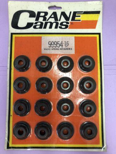 CRANE CAMS PERFORMANCE STEEL VALVE SPRING RETAINERS 99954-16 7 DEGREE DRAG RACE