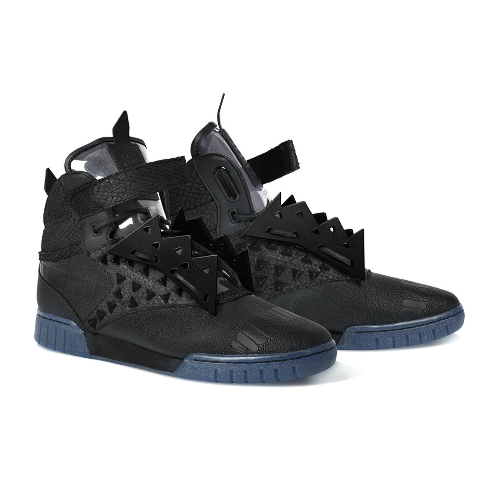 GR BNIB Mens Reebok EXO Fit Hi X Clean PM Patrick Mohr Trainers Boots Mid BK