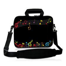 "Music Note 13"" inch 13.3"" Laptop Shoulder Bag Sleeve Case Cover + Outside Handle"