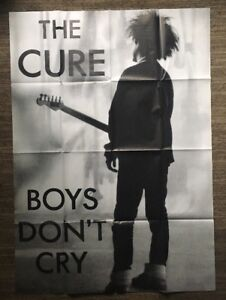 e40d8412d Original Vintage Poster The Cure Boys Don't Cry Huge 1980's Pin-up ...