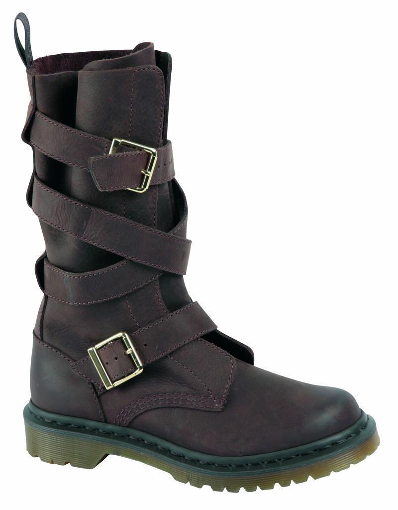 Los zapatos más populares para hombres slip y mujeres Dr Martens slip hombres on botas Lauren dark brown 16167201 original Classic Doc 9f84dd