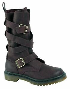 Dr Lauren oscuro Boots original On marrón Slip Martens Clásico Doc 16167201 rxwYIr