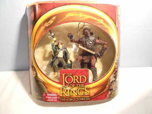 TOY BIZ LORD OF THE RINGS SEÑOR DE LOS ANILLOS CAJA  PIPPIN + UGLUK MIB