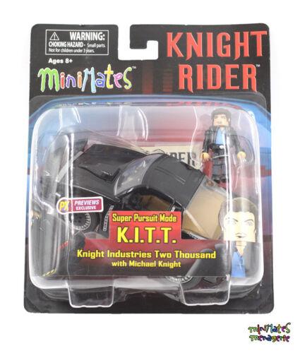 Knight Rider Minimates K.I.T.T. Super Pursuit Mode Vehicle with Michael Knight