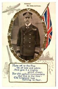 Antique-WW1-postcard-military-portrait-Field-Marshal-Kitchener-Union-Jack