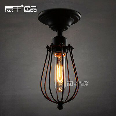 RH LOFT Vintage Industrial With Edison T10 Bulb Ceiling light pendant lamp Iron