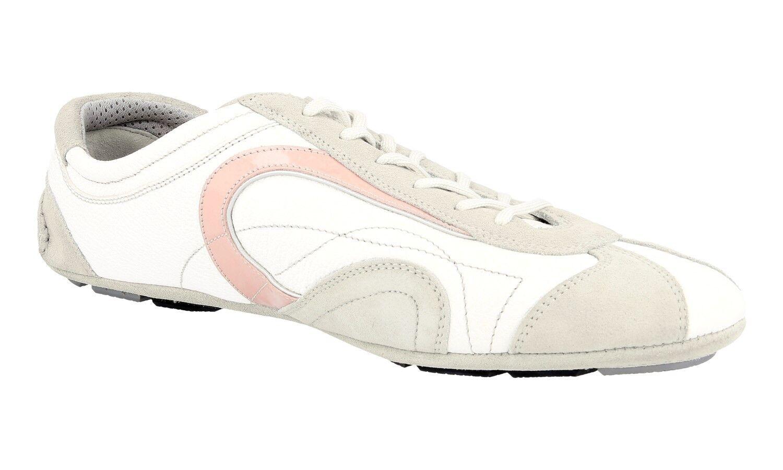 Authentique Authentique Authentique De Luxe Prada Baskets Chaussures 3E3361 rose Nouveaux 40,5 41 UK 7.5 6f5de8