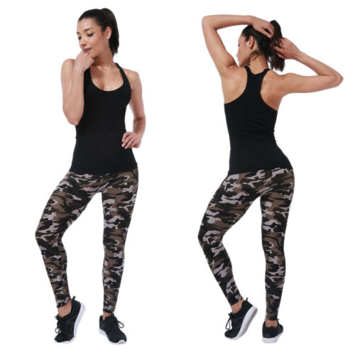 Casual Women Print Leggings Sports Gym Yoga Workout Fitness Lounge Athletic Pant
