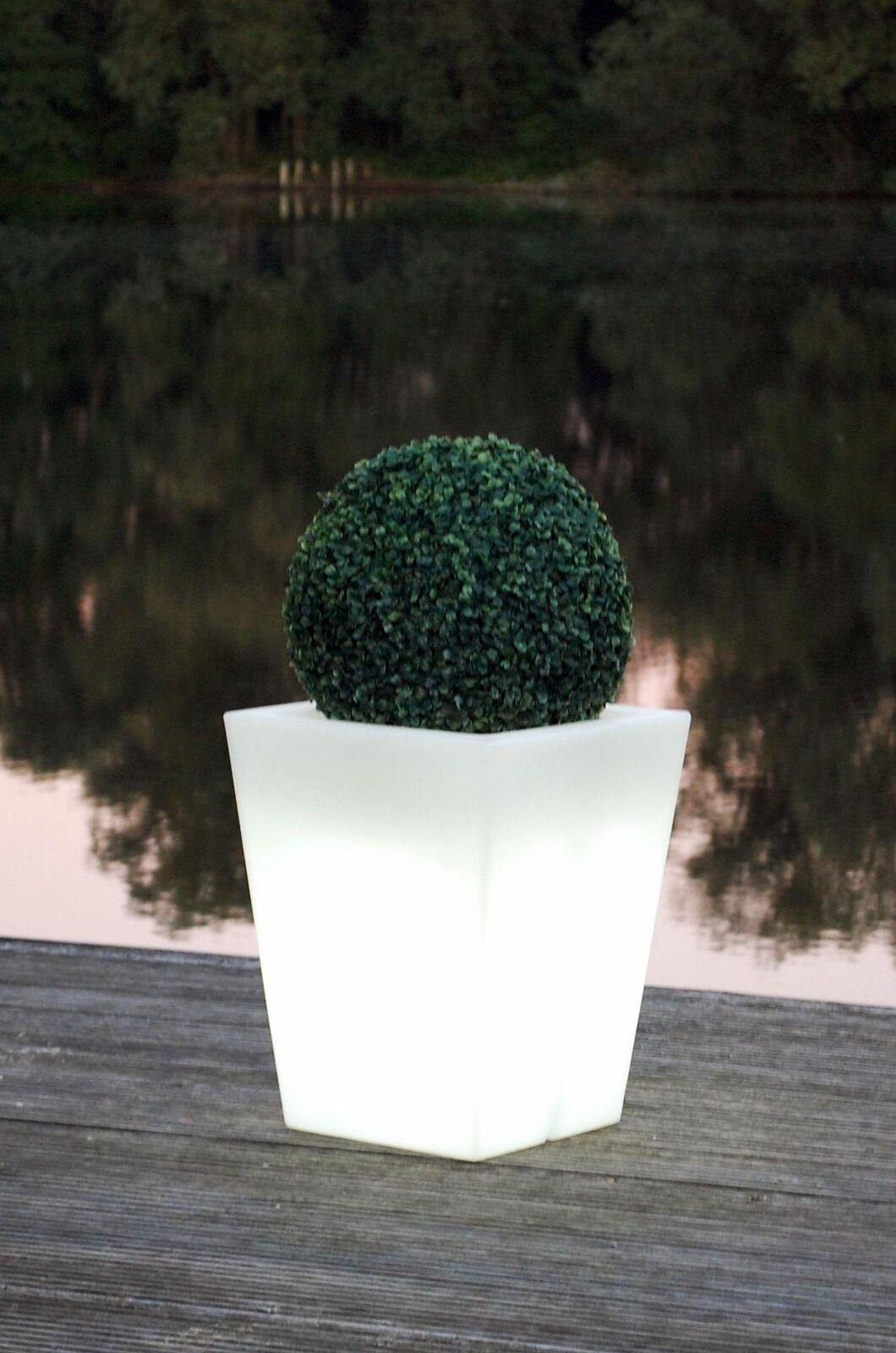 miglior servizio Porta vaso fioriera  Classic  illuminato in plastica, plastica, plastica, 44 cm, Bianco  migliori prezzi e stili più freschi
