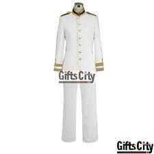 Axis Powers Hetalia Japan Honda Kiku White Uniform Cosplay Costume COS Cloth