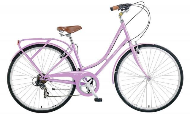 Claud Butler Hyde Park Spring Ladies 700C 6 Speed Dutch Style Heritage Bike Pink