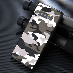 Army Camouflage Slim Pattern Rubber Case Cover For Samsung Galaxy Note 9 S9 Plus