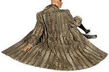 Leder Pelzmantel Persianer grau beige Nerz Breitschwanz broadtail mink fur coat