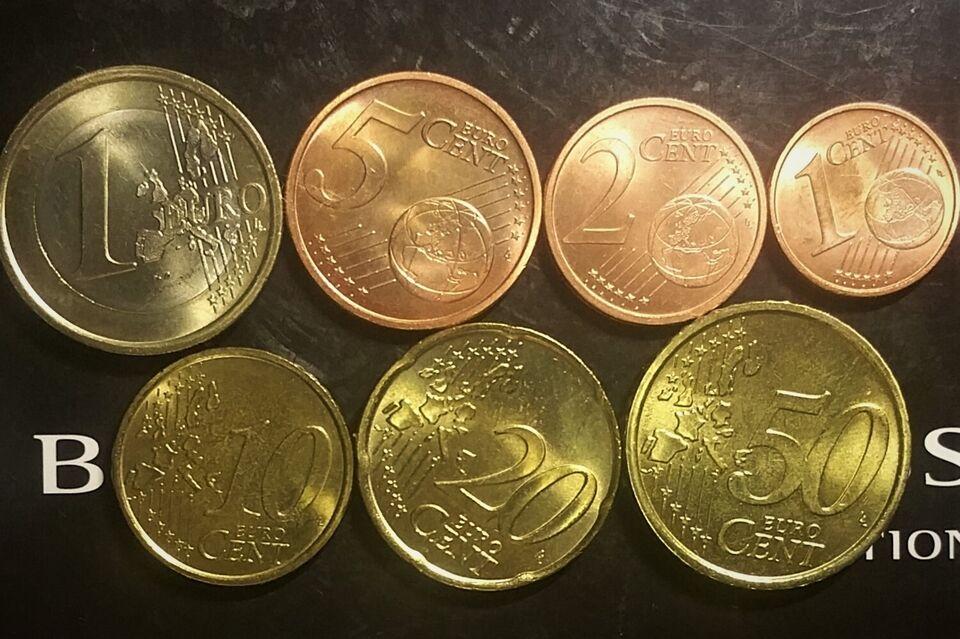 Euro, mønter, €1.88
