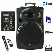 NEW BEFREE SOUND BLUETOOTH BATTERY POWERED PORTABLE DJ PA PARTY SPEAKER SYSTEM