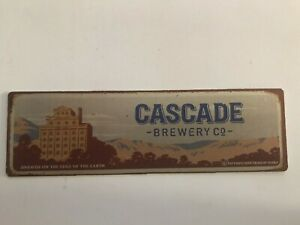 Cascade-Brewery-Co-Metal-sign-with-self-adhesive-tape