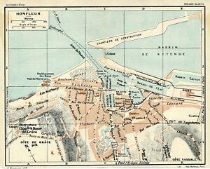 14-Honfleur-1925-pt-plan-ville-guide-4-p-chantiers-constr-Cote-de-Grace