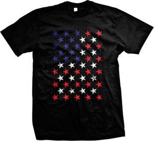Star Red White & Blue American Flag - USA Pride Mens T-shirt