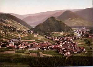 Deutschland-Ahrtal-Mayschoss-vintage-print-photochromie-vintage-photochrom