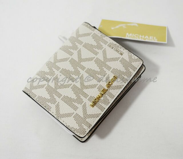 bb2f89e68354 NWT Michael Kors Jet Set Travel Carryall Card Case in Signature Vanilla