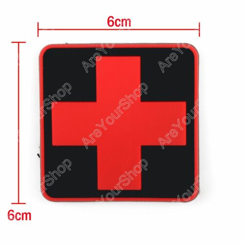 Jtg Medic Cross Paramedic 3D Tactical Army Morale Pvc Rubber Hook Loop Patch
