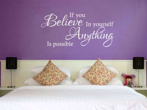 Modern Transfer If You Believe Wall Art Sticker Quote PVC Home