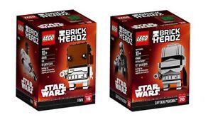 LEGO-BrickHeadz-41485-Finn-41486-Captain-Phasma-inkl-0-00-Versand-Neu