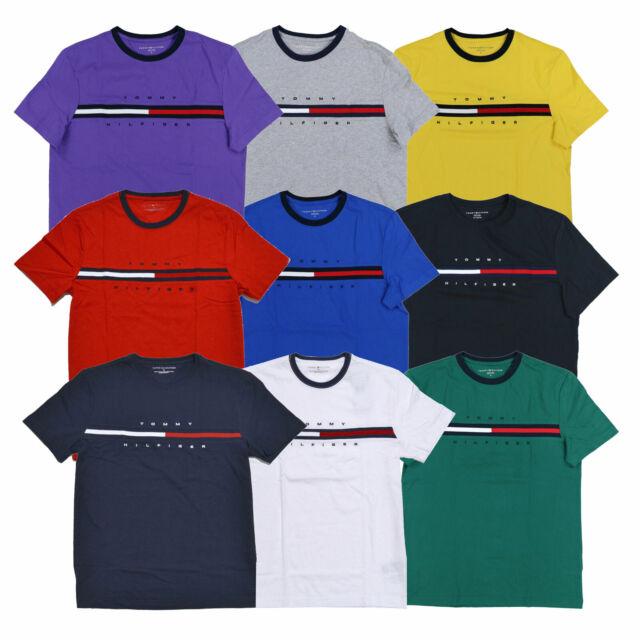 Vorschau von Suche nach Beamten Outlet-Boutique Tommy Hilfiger Mens T-Shirt Big Logo Short Sleeve Graphic Tee Flag Crew  Neck New
